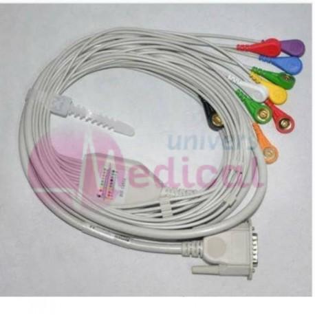Câble ECG 10 fils SNAP