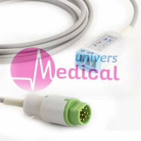 Câble ECG PM 10 pins forme D