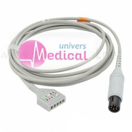 Câble ECG PM 6 pins